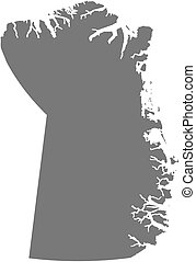 Map - Northeast Greenland National Park (Greenland) - Map of...