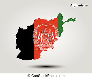 Map of Afghanistan. Vector illustration. World map