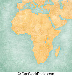 Map of Africa - Blank Map (Vintage Series)