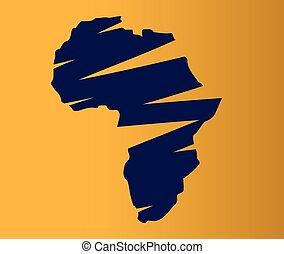 Safari map africa animals wildlife jeep symbol vector illustration.