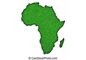 Map of Africa on green felt