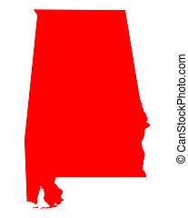 Map of Alabama