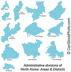 Map of all north korean areas - All large and detailed...