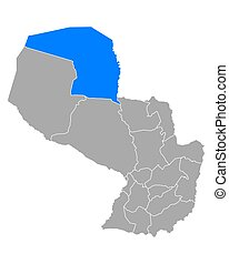 Map of Alto Paraguay in Paraguay