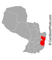 Map of Alto Parana in Paraguay