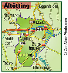 Map of Altoetting