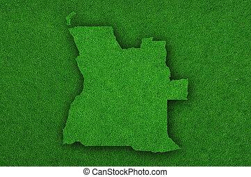Map of Angola on green felt