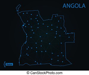 Map of Angola. Vector illustration. World map