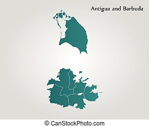 Map of Antigua and Barbuda