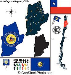 Map of Antofagasta, Chile