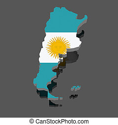 Map of Argentina.