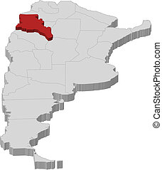 Map of Argentina, Catamarca highlighted