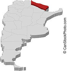 Map of Argentina, Formosa highlighted