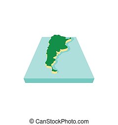 Map of Argentina icon, cartoon style