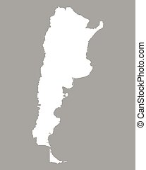 Grey argentina map Map of administrative divisions of vectors