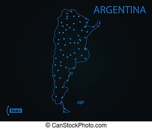 Map of Argentina. Vector illustration. World map
