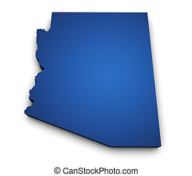 Map Of Arizona State 3d Shape