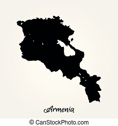 Map of Armenia. Vector illustration. World map