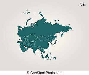 Map of Asia. Vector illustration. World map