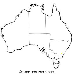 Australian Capital Territory Outline Map Set Australian - Blank outline map of australia