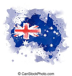 map of australia map concept