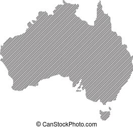 map of australia map concept vector