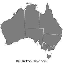 Map of Australia - Political map of Australia with the ...