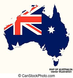 Map of Australia. Vector