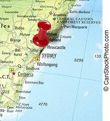 pin set on Sydney