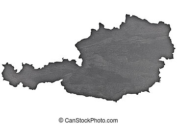 Map of Austria on dark slate