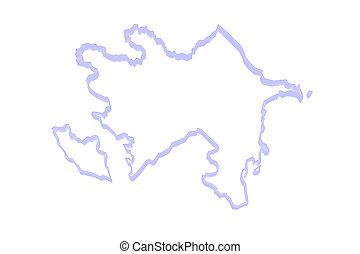 Map of Azerbaijan.