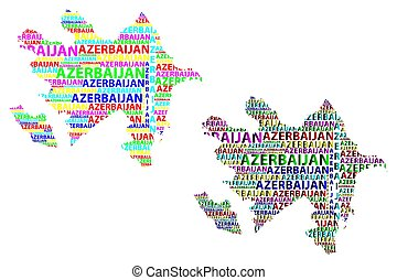 Map of Azerbaijan - vector illustration