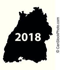 Map of Baden-Wuerttemberg 2018