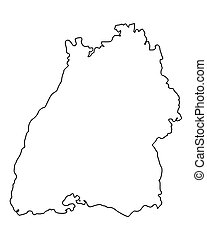 Map of Baden-Wuerttemberg