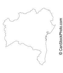 Map of Bahia