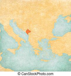 Map of Balkans - Montenegro - Montenegro on the map of...