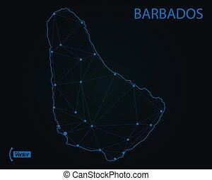 Map of Barbados. Vector illustration. World map