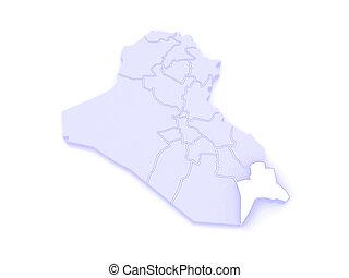 map of basra iraq