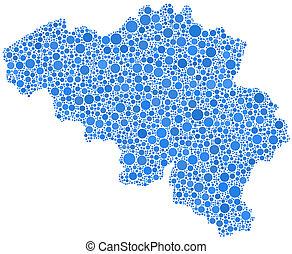 Map of Belgium - Europe -