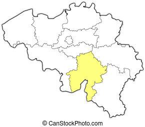 Map of namur belgium 3d stock illustration Search Vector Clipart
