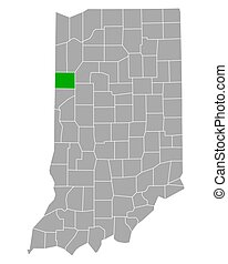Map of Benton in Indiana