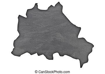 Map of Berlin on dark slate