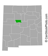 Map of Bernalillo in New Mexico