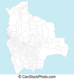 Large and detailed map of santa cruz county in california vector