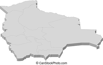 Map of Bolivia - Political map of Bolivia with the several ...
