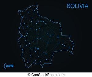 Map of Bolivia. Vector illustration. World map