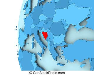 Map of Bosnia and Herzegovina - 3D render of Bosnia and...