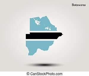 Map of Botswana
