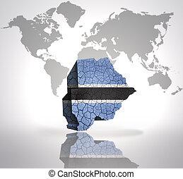 Map of Botswana