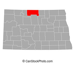 Map of Bottineau in North Dakota